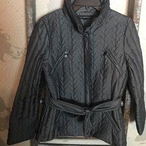 Via Spiga quilted jacket belted M EUC